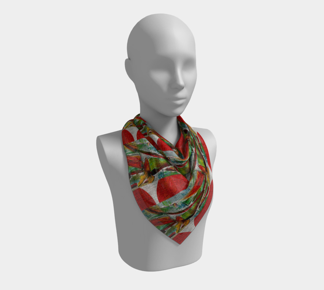 Oriental Red Sun and Bamboo Scarf preview #2