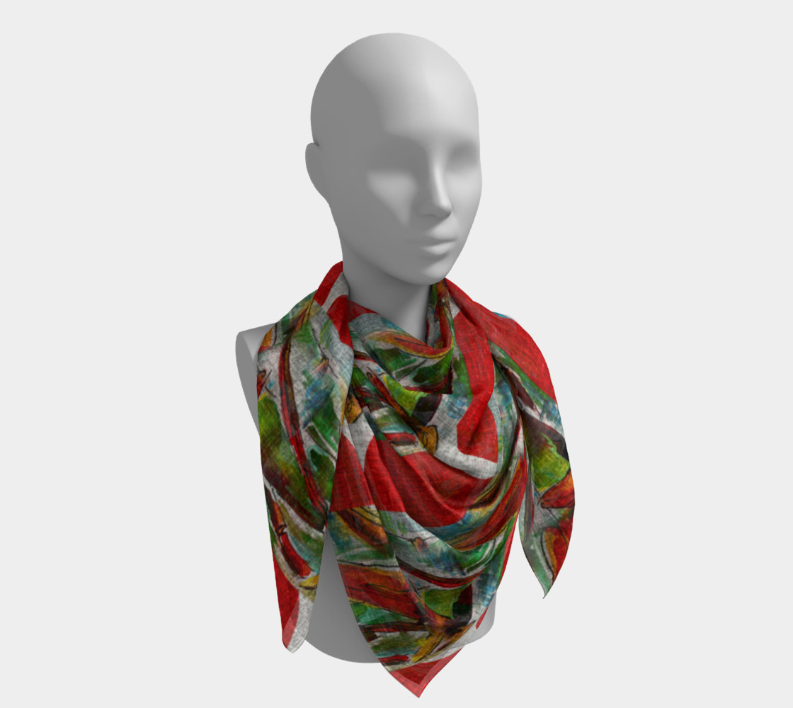 Oriental Red Sun and Bamboo Scarf preview #4