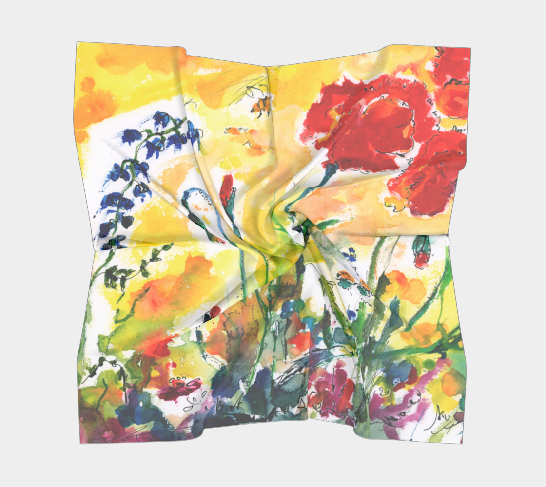 Flowers Provence Square Scarf Miniature #6