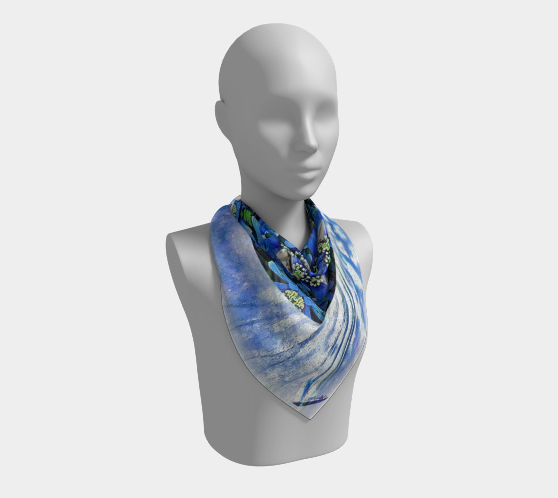 Freedom and Love Large Silk Scarf preview #2