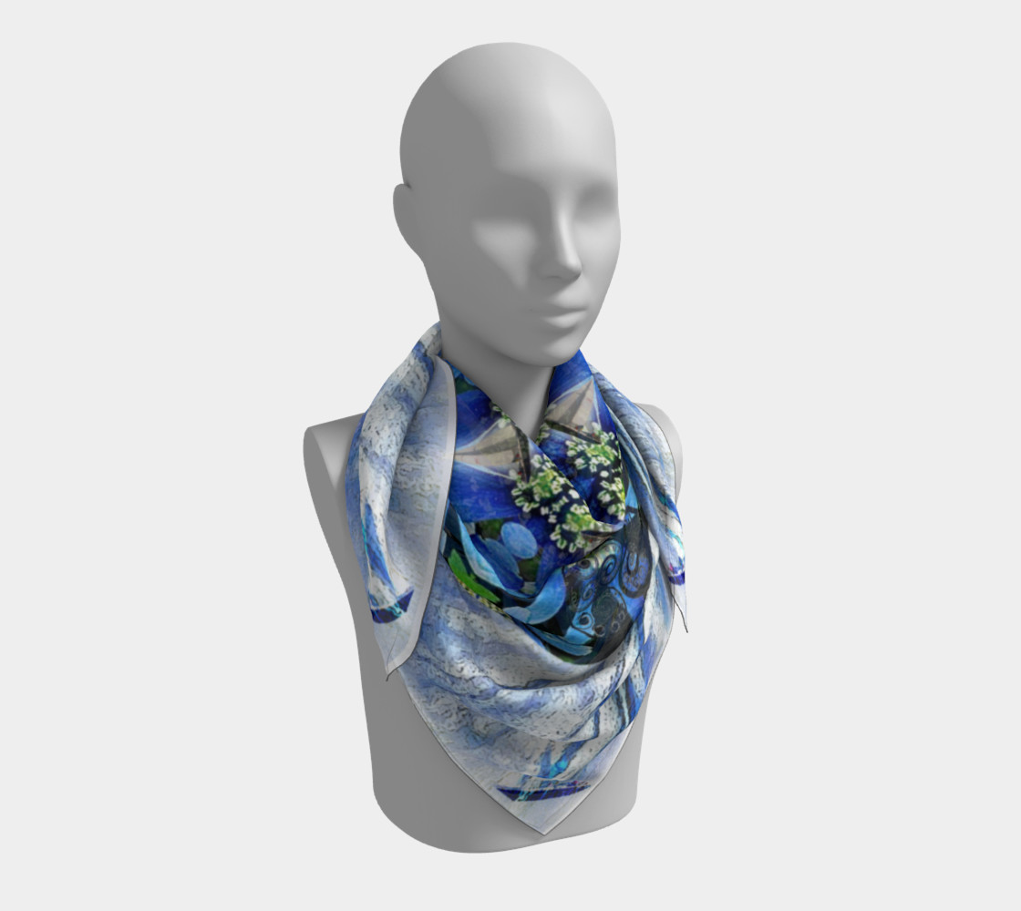 Freedom and Love Large Silk Scarf preview #3