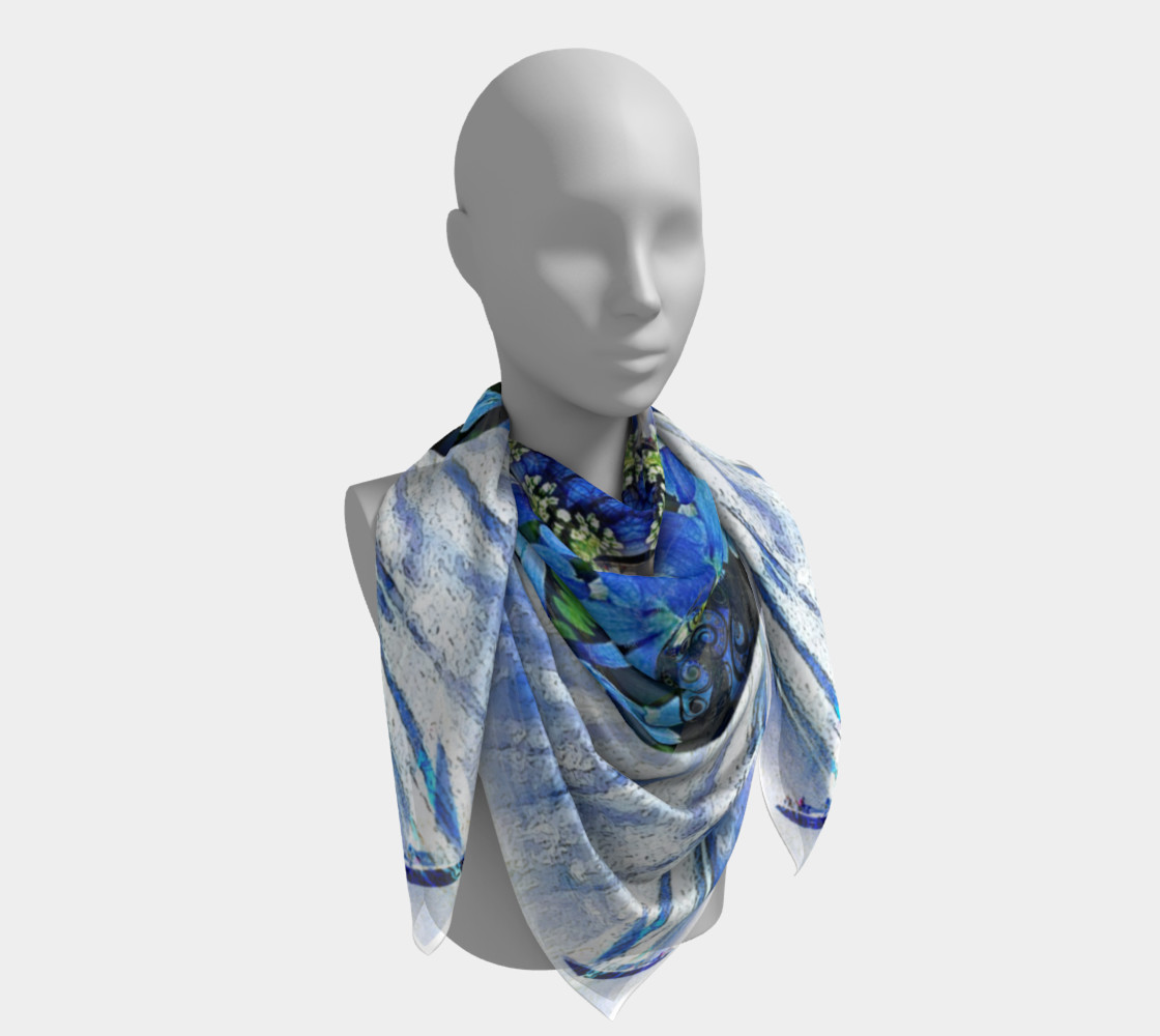 Freedom and Love Large Silk Scarf preview #4