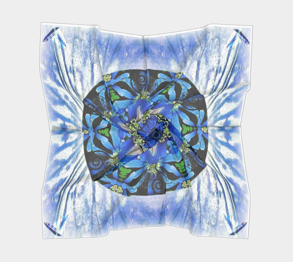 Freedom and Love Large Silk Scarf preview #5