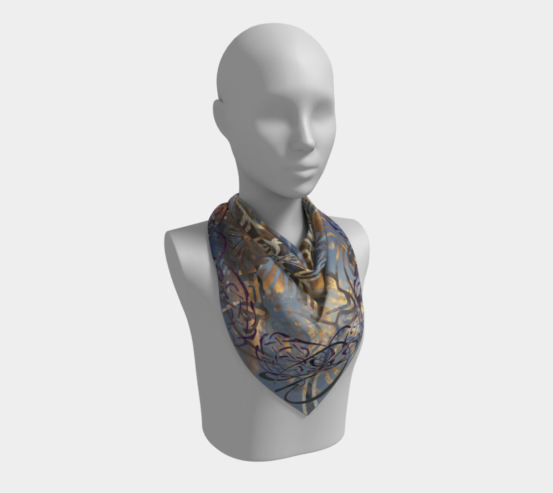 Sunset Dance Square Scarf preview #2