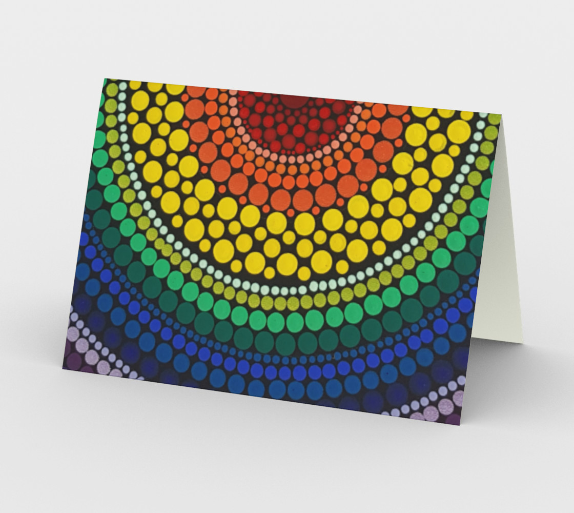 Rainbow Stationary Card 1 preview #2