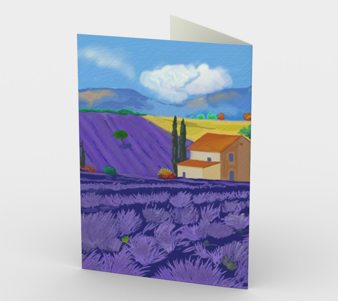 Lavender Farm Stationary Card Portrait preview #2