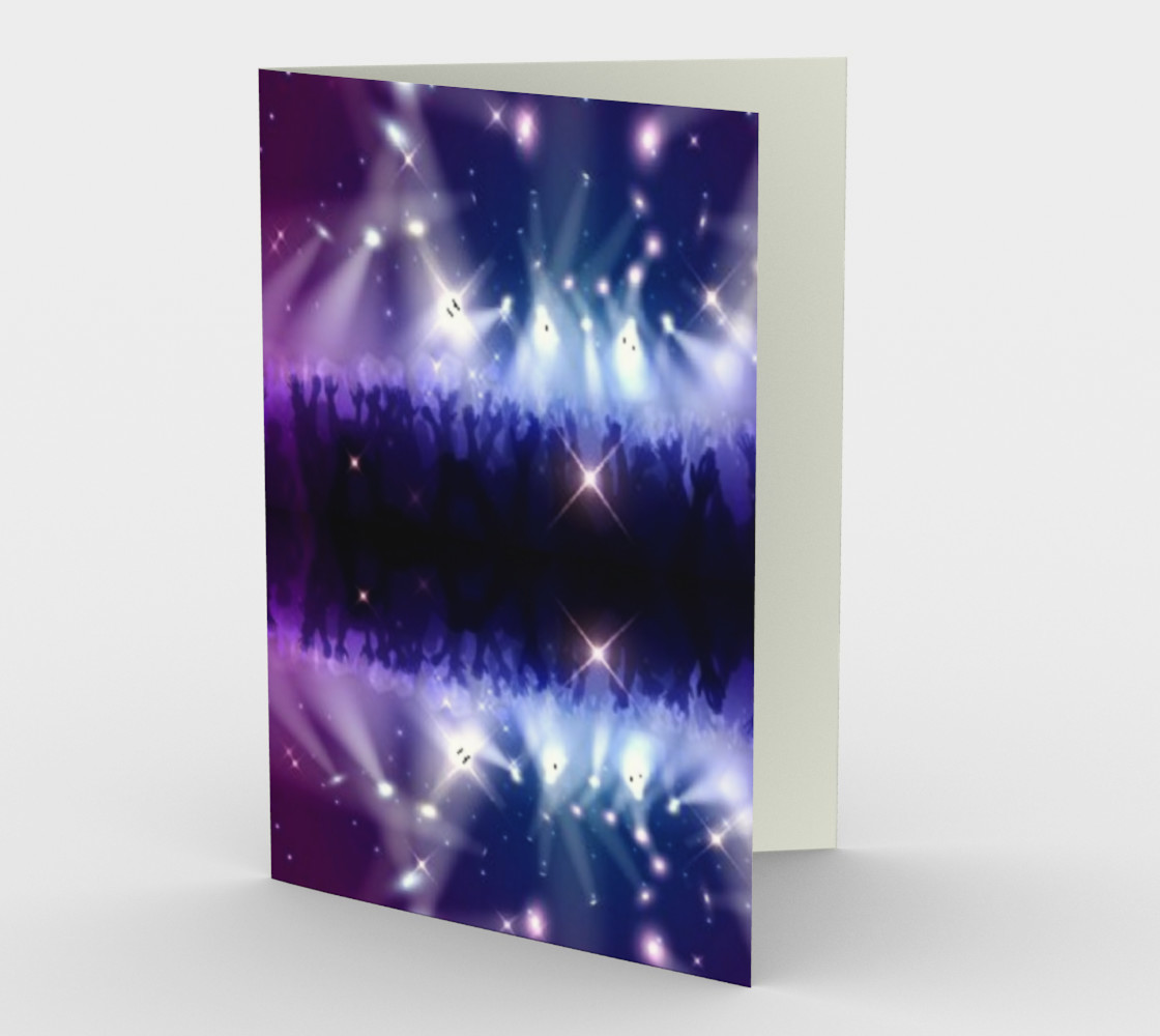 Purple and Blue Burst Stationary Card preview #1