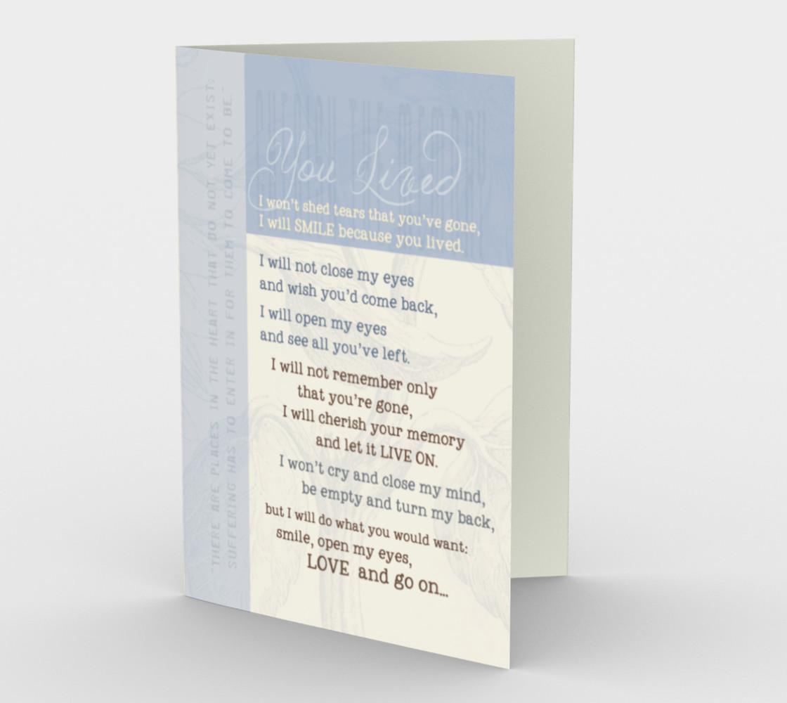 Aperçu de 0064.You Lived Card by Deloresart #1