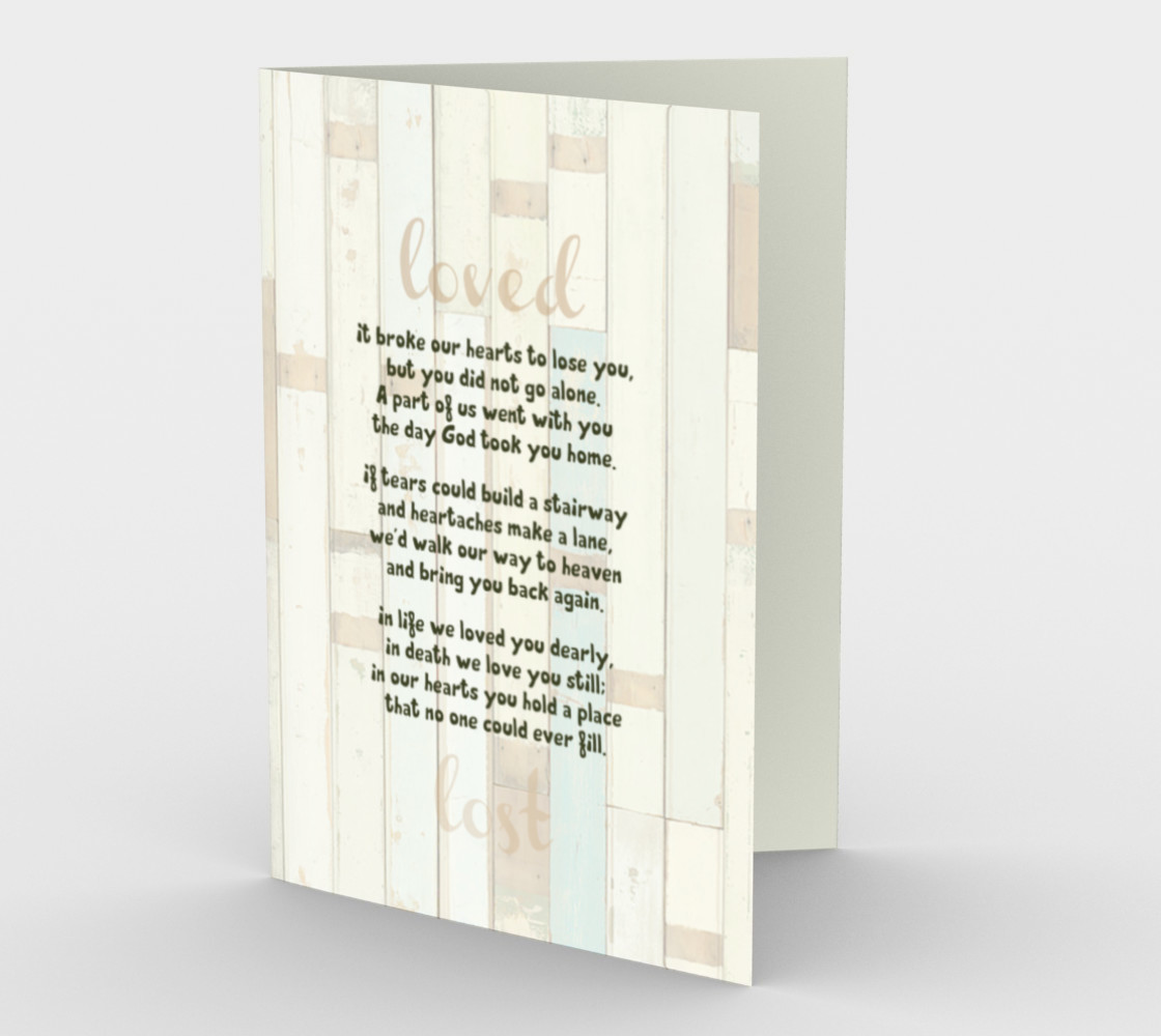 0447.It Broke Our Hearts to Lose You Card by Deloresart preview #1