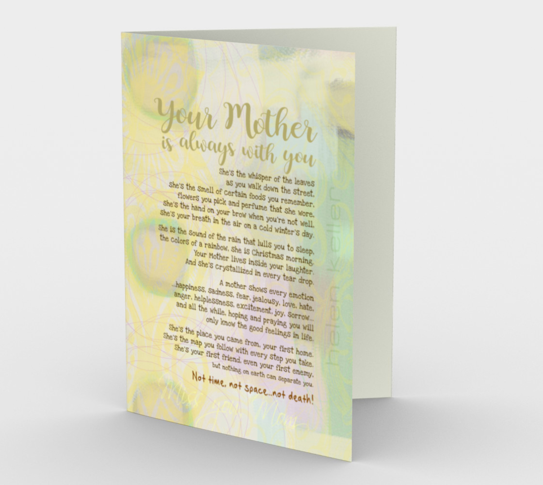 0516.Your Mother Is Always With You Card by Deloresart preview #1