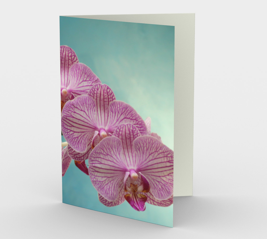 Purple Orchid Stationary greeting Card preview #1