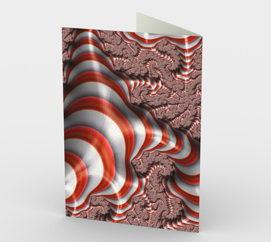 Candy Cane Fractal Stationary card preview #2