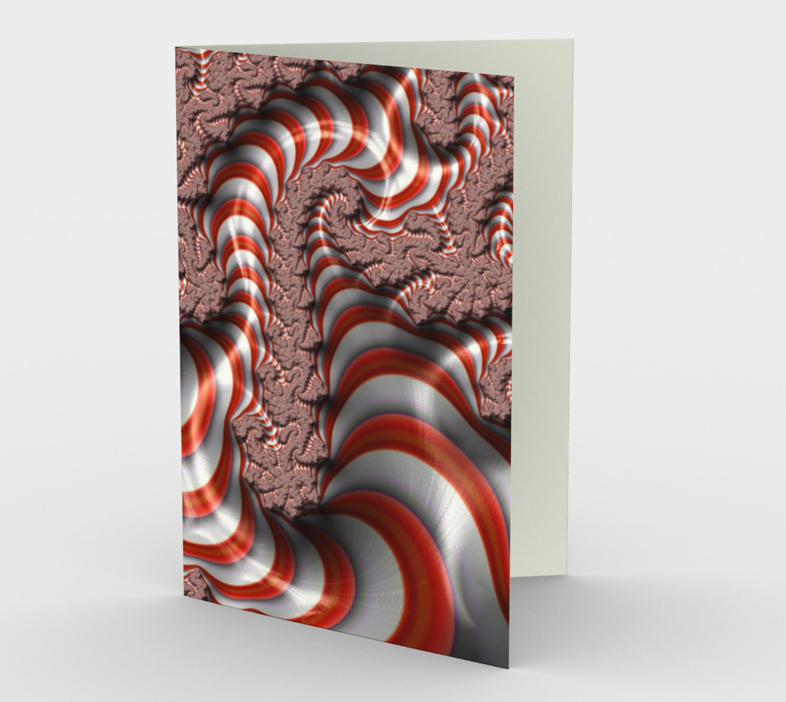 Candy Cane Fractal Stationary card preview #1
