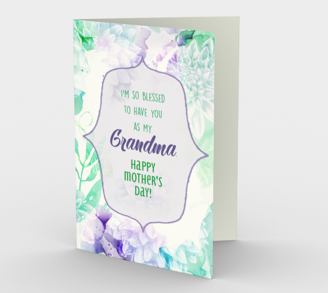 1192. So Blessed You're My Grandma Card by Deloresart preview #1