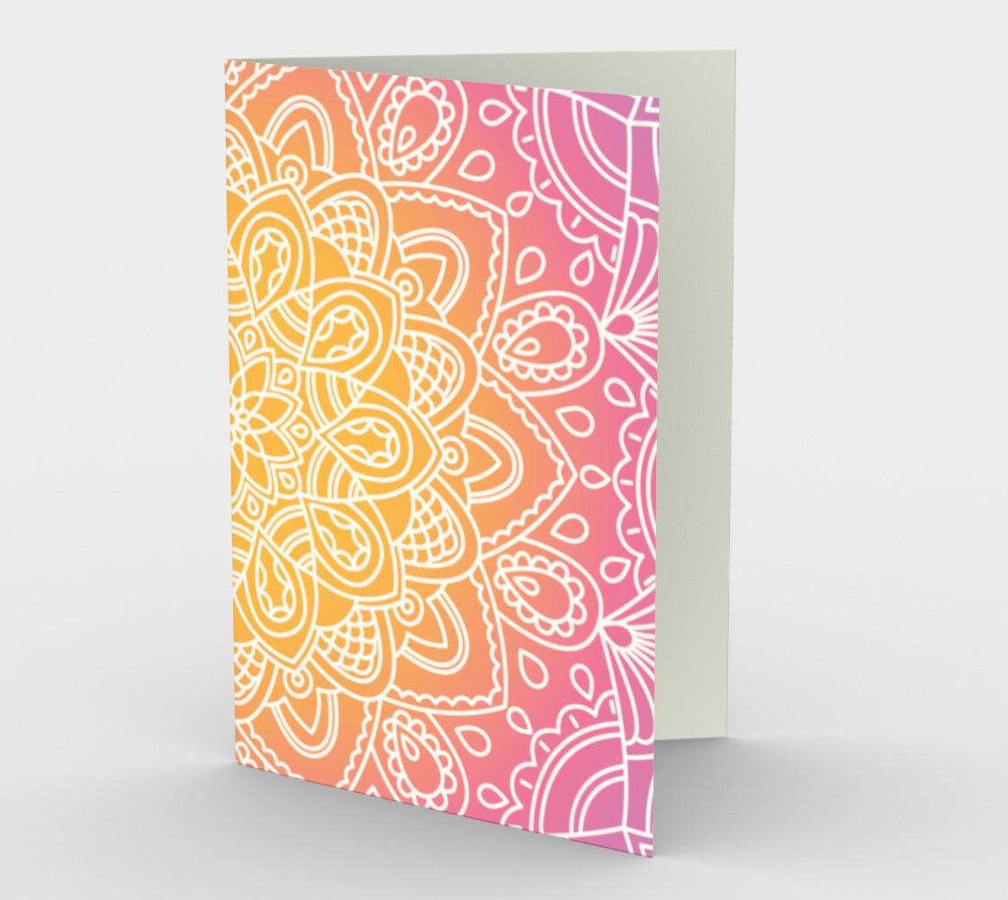Aperçu de Trendy Gradient Mandala Design #1