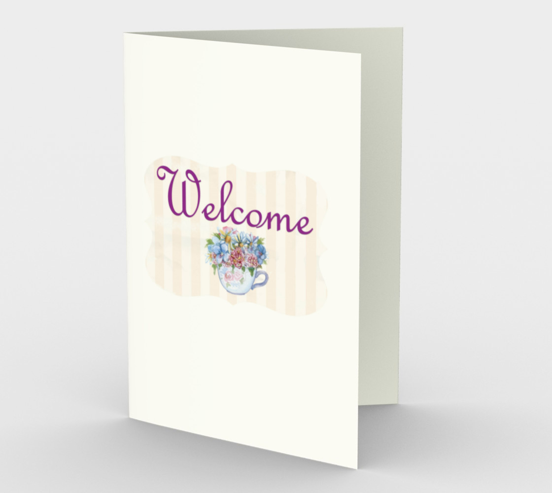 Welcome Stationary Card preview #1