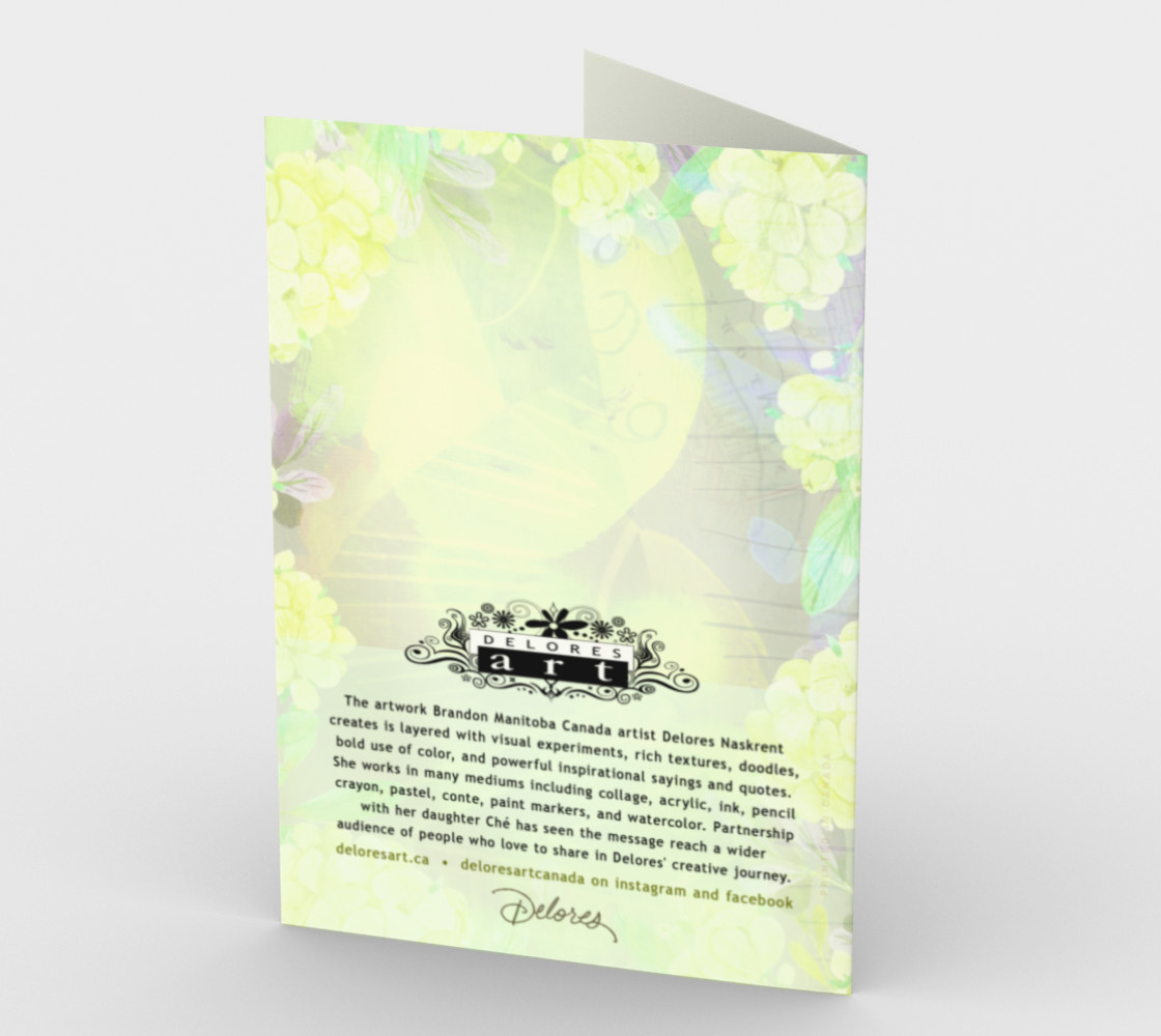 1267 Reality Is You'll Grieve Forever Stationery Card by Deloresart Miniature #3