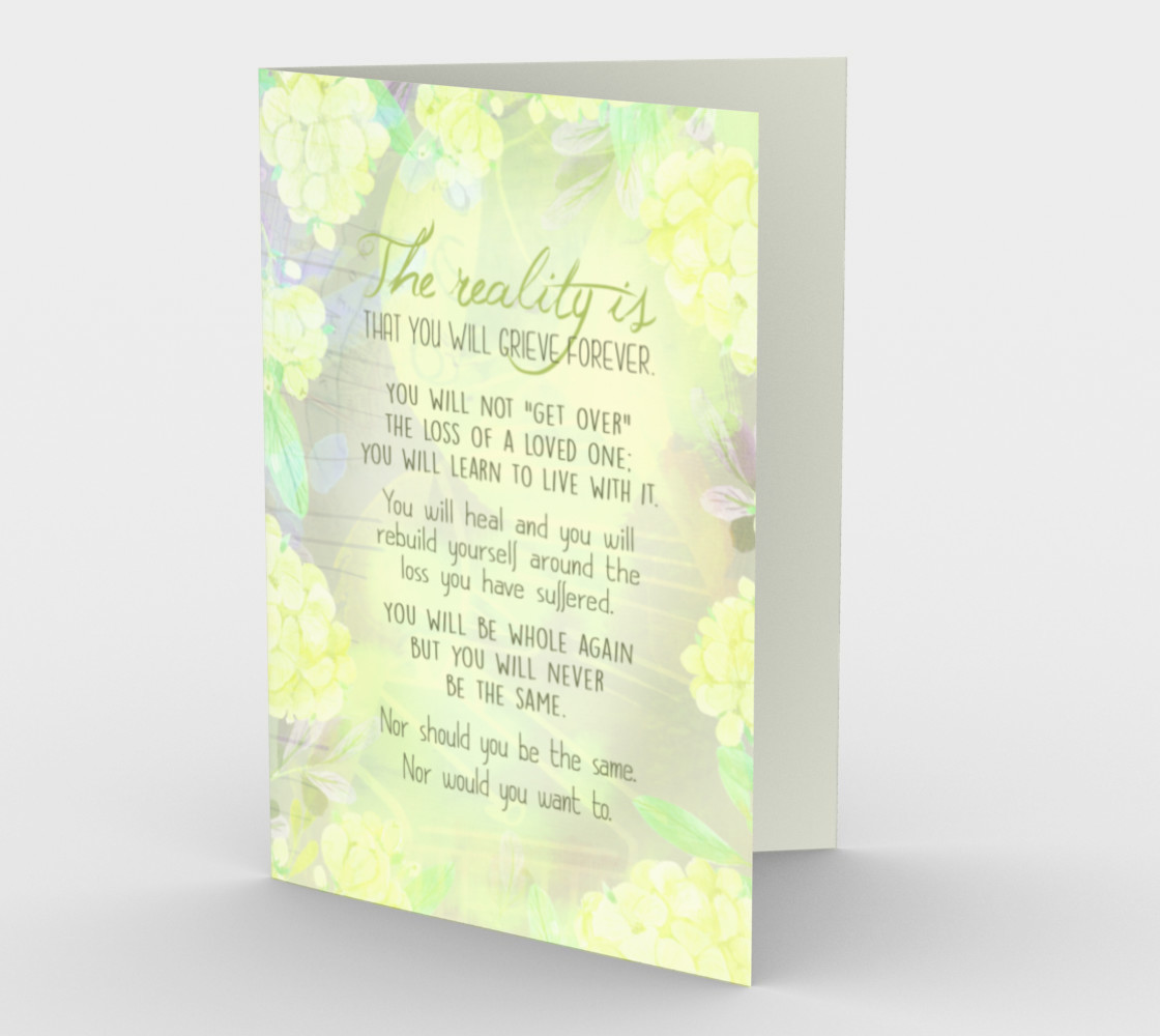 Aperçu 3D de 1267 Reality Is You'll Grieve Forever Stationery Card by Deloresart