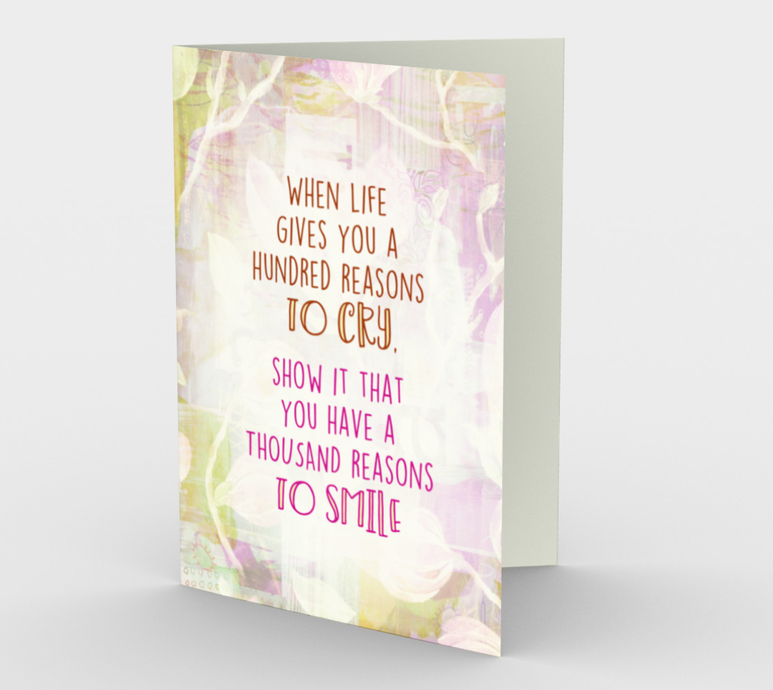 1271 Reasons To Smile Floral Stationery Card by Deloresart preview #1