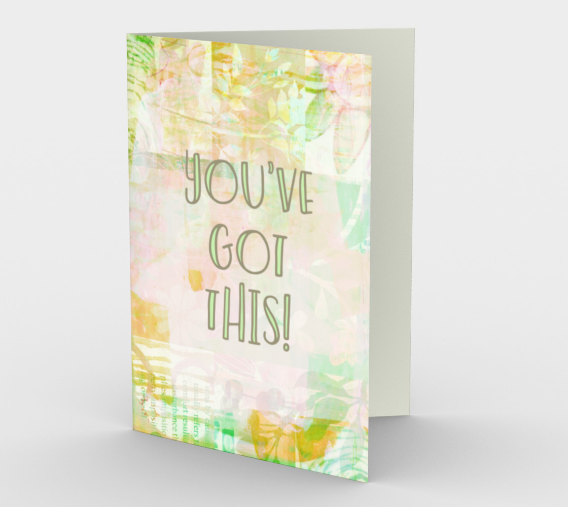 1272 You Got This Mixed Media Stationery Card by Deloresart preview #1
