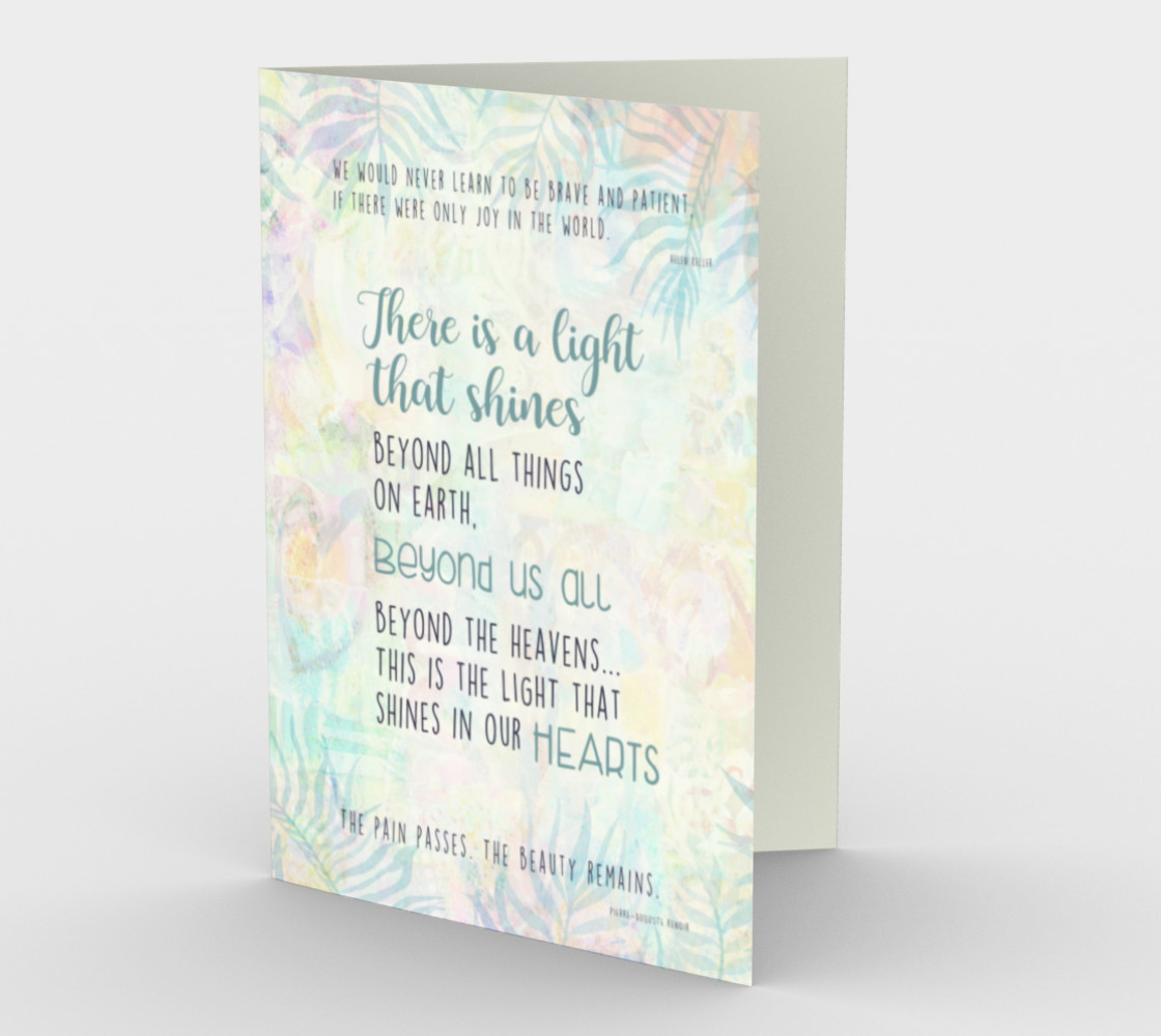 1273 Beyond Us All Floral Stationery Card by Deloresart preview #1