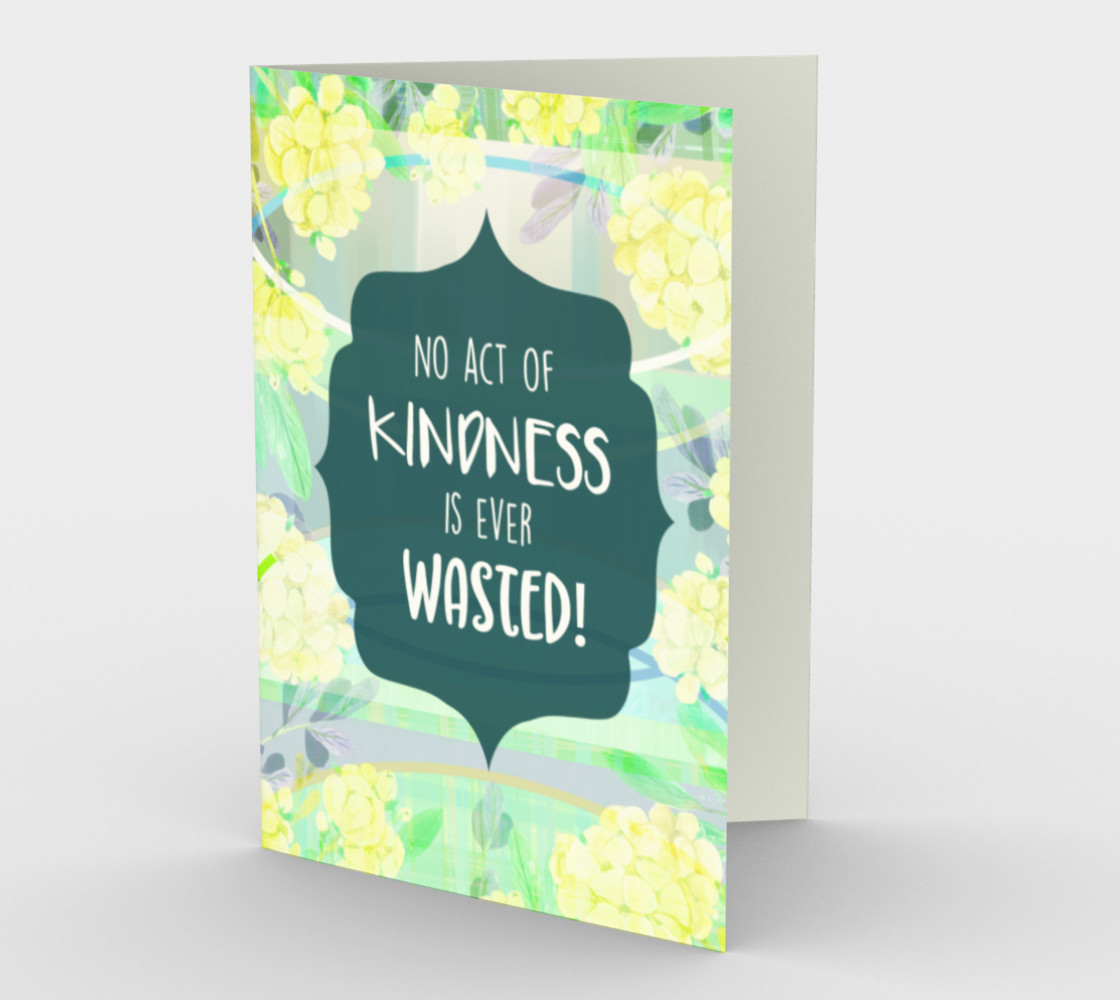 1275 No Act Of Kindness Stationery Card by Deloresart preview #1