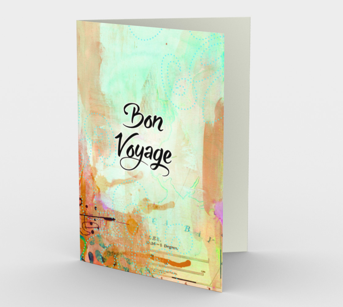 1356 Bon Voyage Stationery Card by Deloresart preview #1