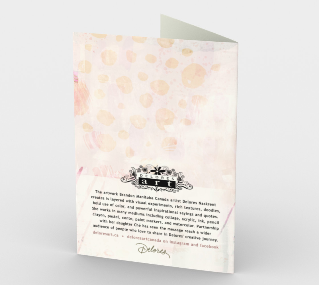 1330 Life Doesn't Have to be Perfect Stationery Card by Deloresart preview #2
