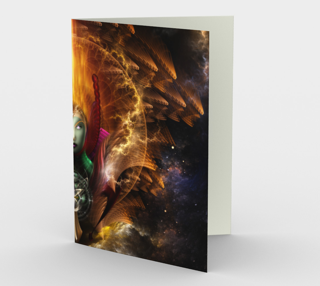 Riddian Queen Of Cosmic Fire Stationery Card preview #1