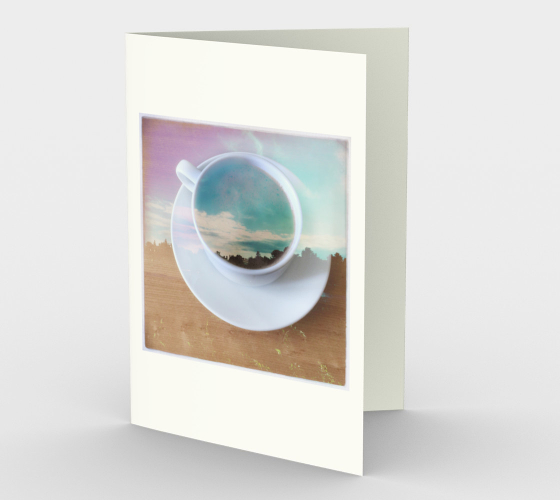 coffee cup card 3D preview