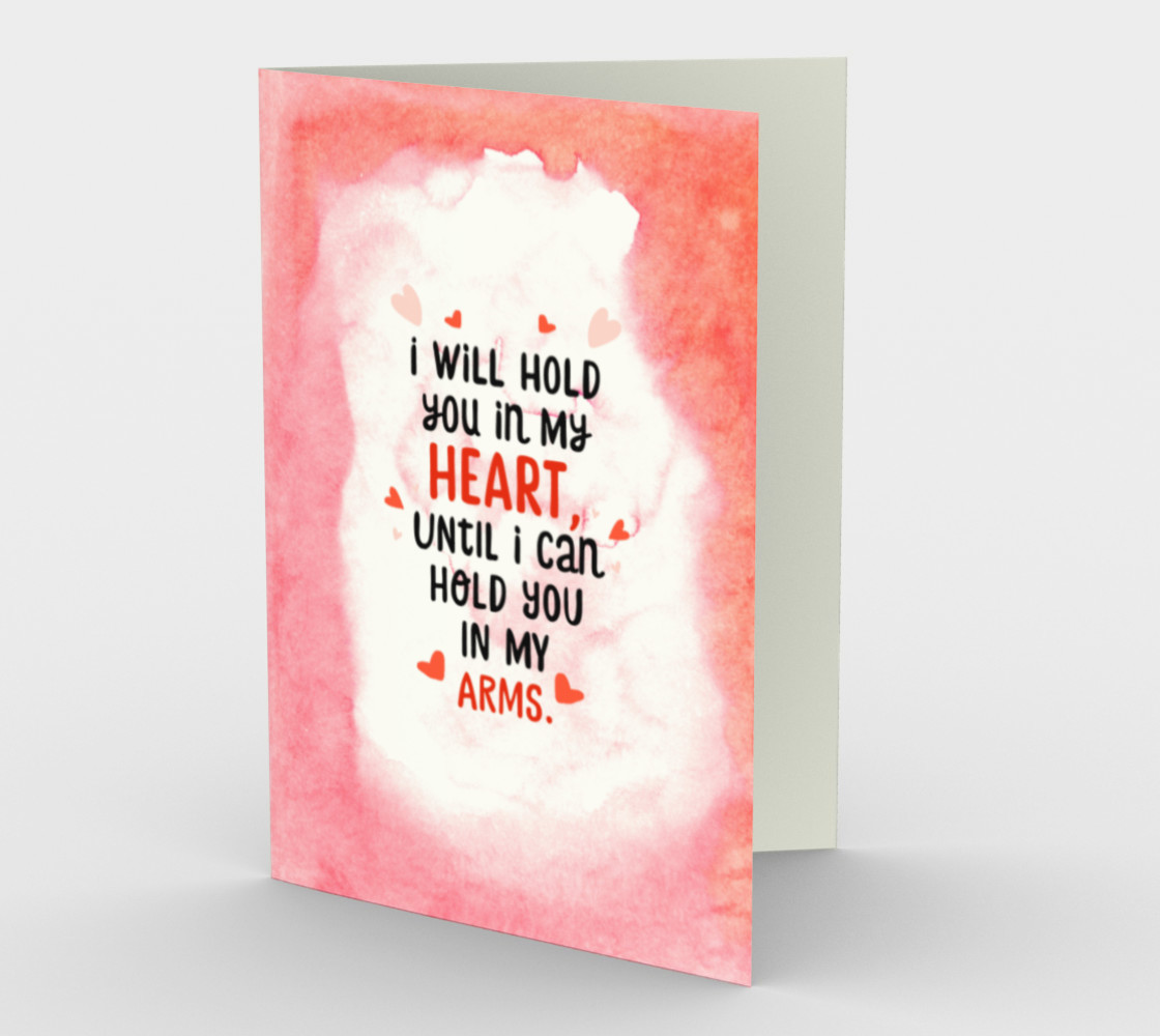 1388 I Will Hold You In My Heart Stationery Card by Deloresart preview #1