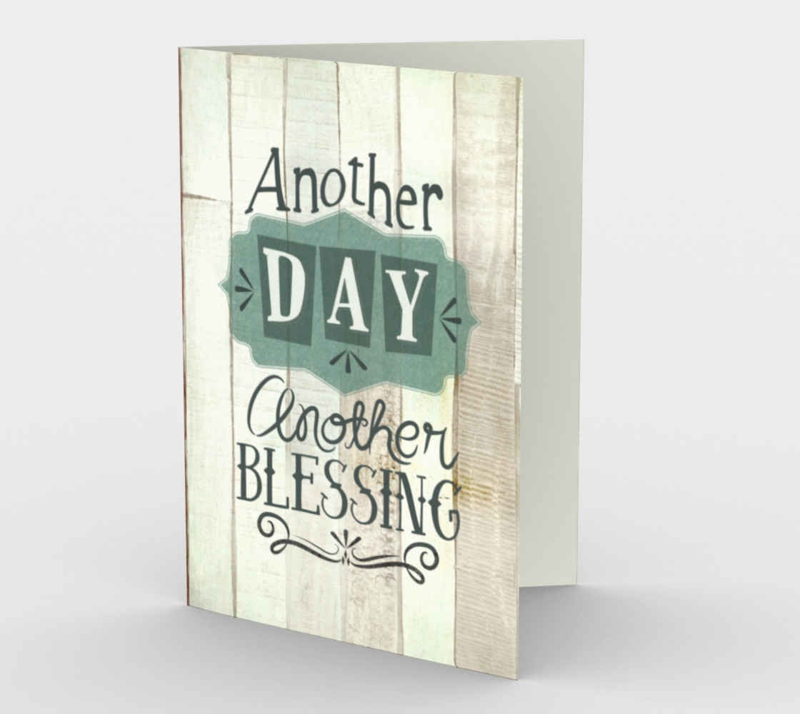 1397 Another Day, Another Blessing Stationery Card by DeloresArt preview #1