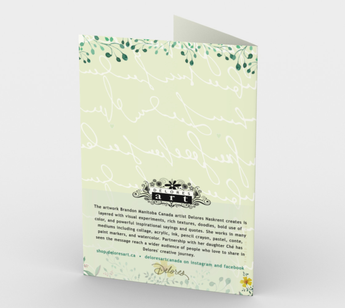1276 Kind Words Stationery Card by Deloresart preview #2