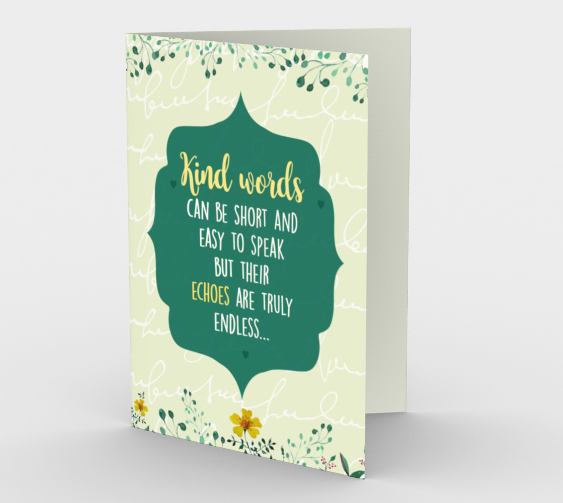 1276 Kind Words Stationery Card by Deloresart preview #1