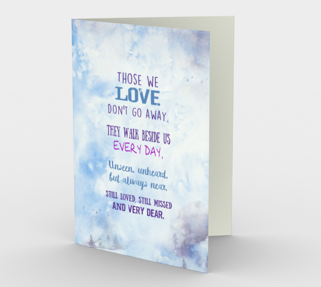 0618. Those We Love Don't Go Away Card by Deloresart preview #1