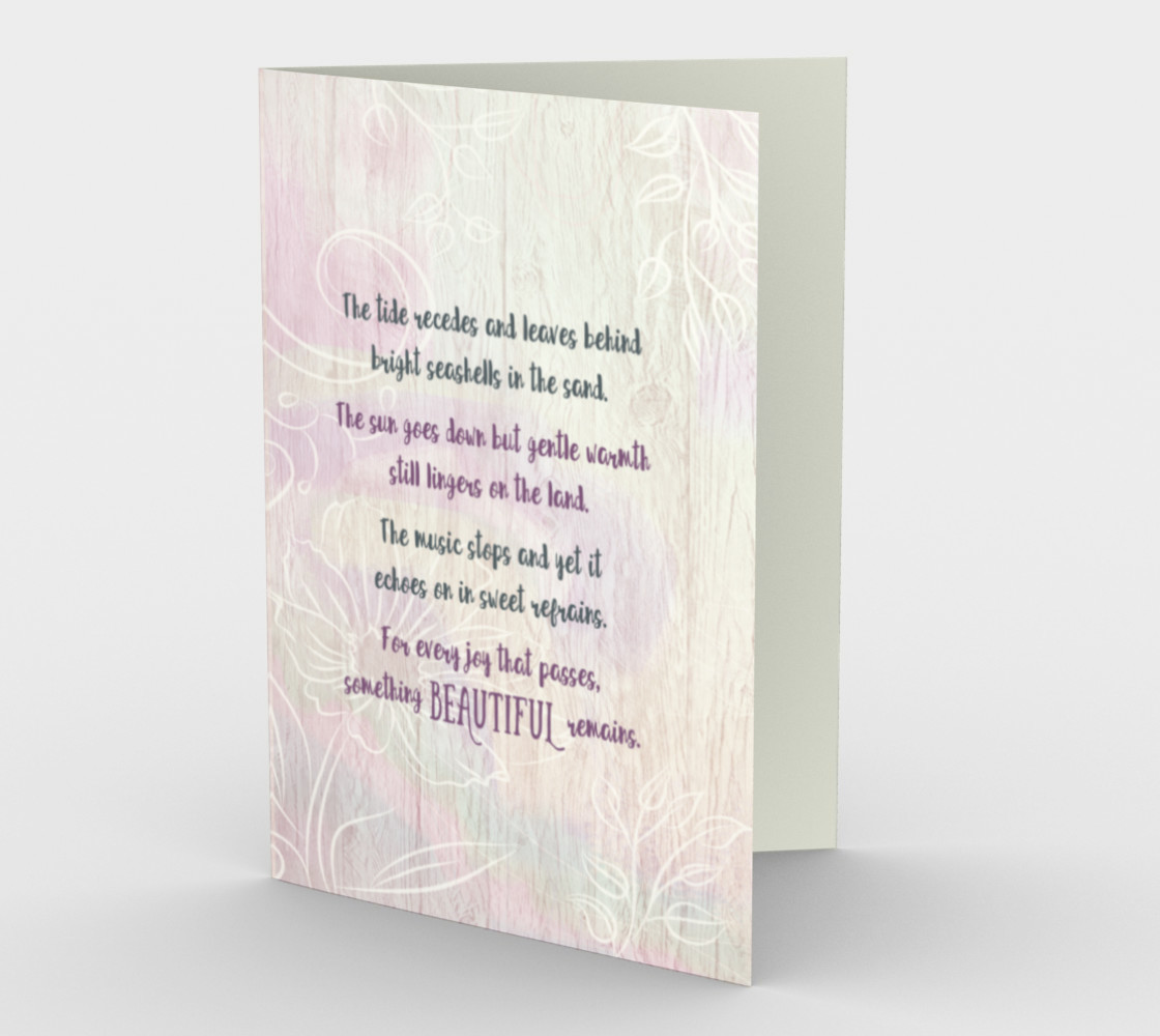 0620 The Tide Recedes Sympathy Card by Deloresart preview #1