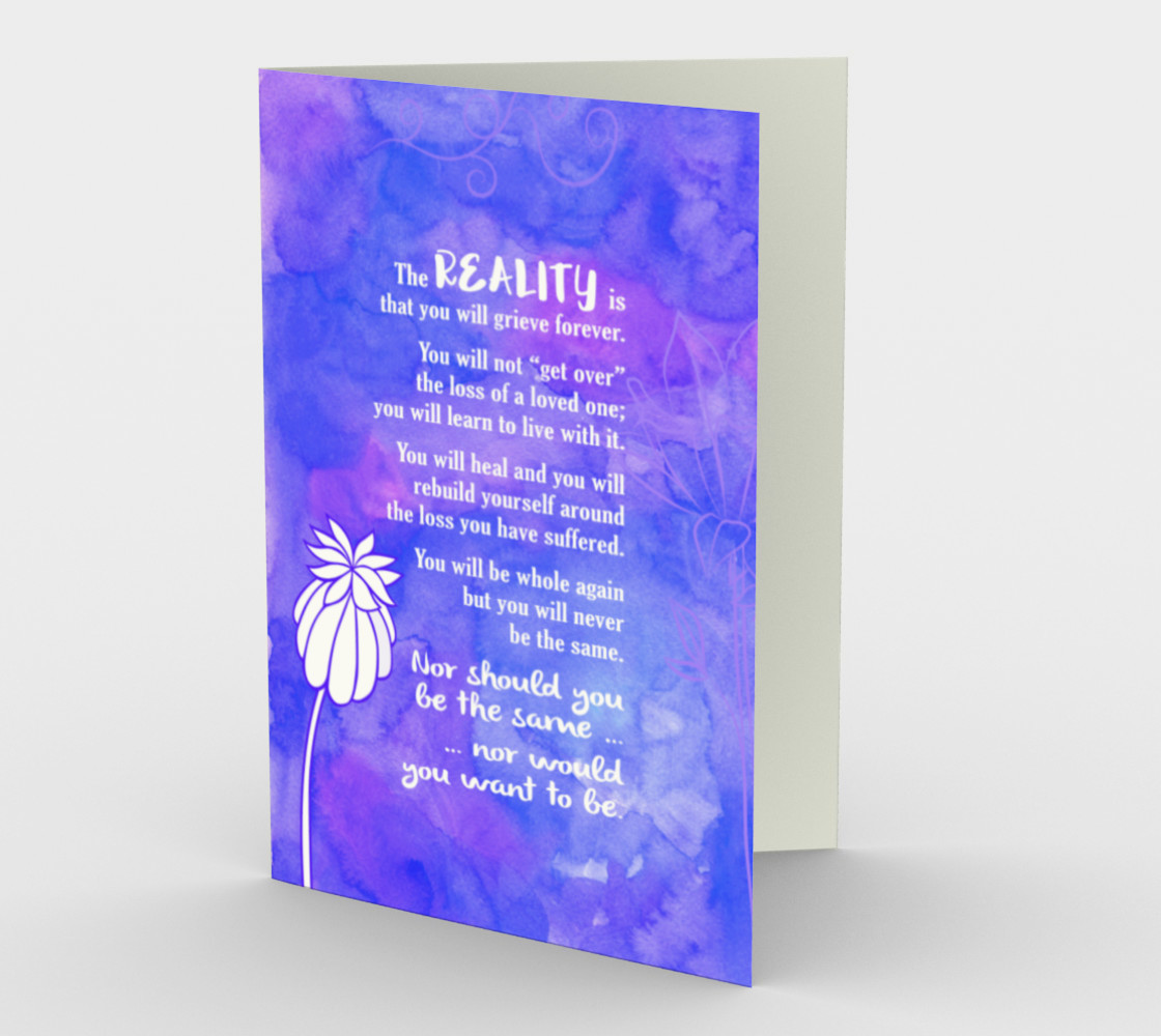 0887 The Reality Is You Will Grieve Forever Card by Deloresart 3D preview