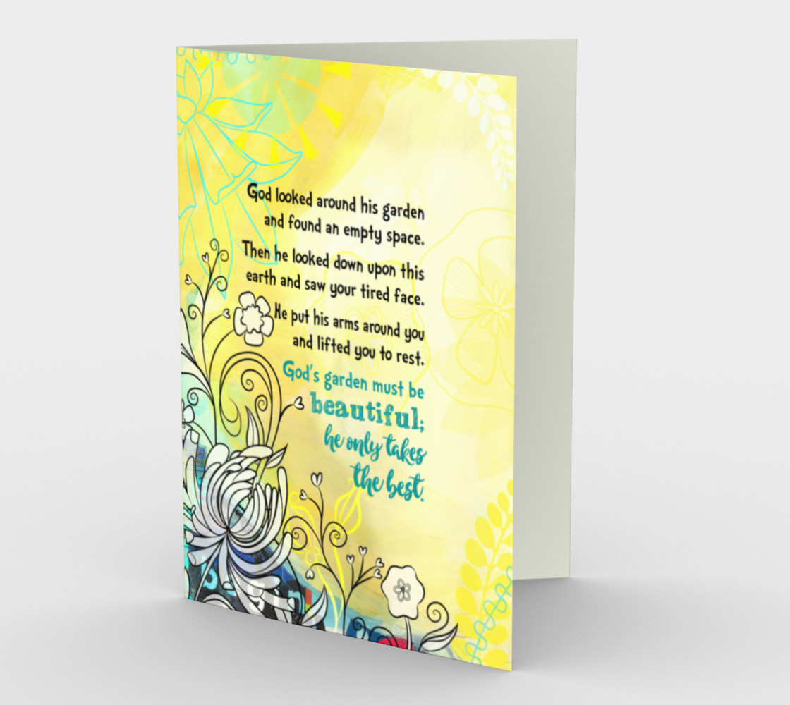 0833 God's Garden Card by Deloresart preview #1