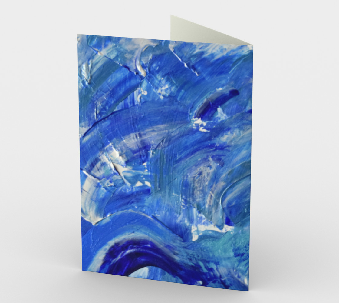 Shimmer Waves Abstract Painting by Janet Gervers preview #2