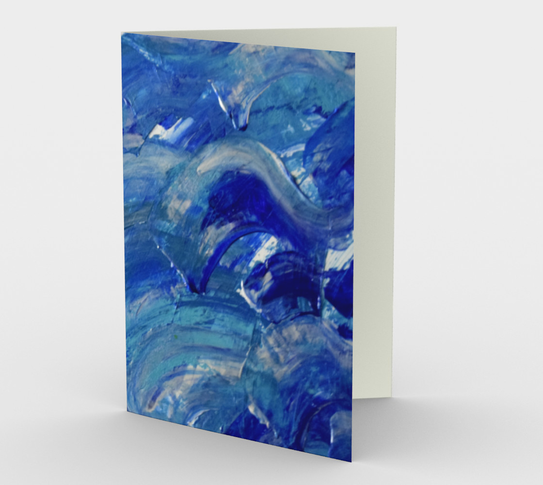 Shimmer Waves Abstract Painting by Janet Gervers Miniature #2
