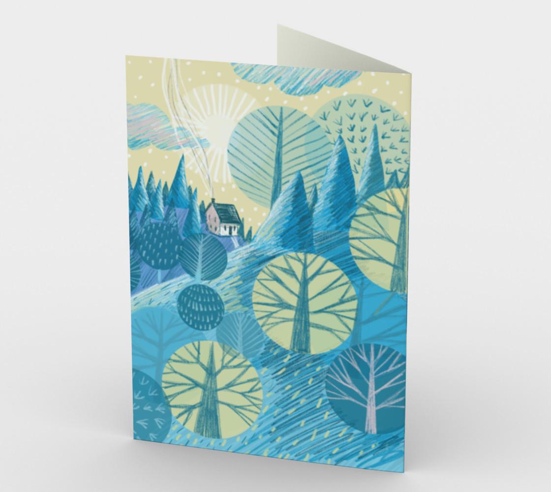 Carte Le bleu paysage preview #2