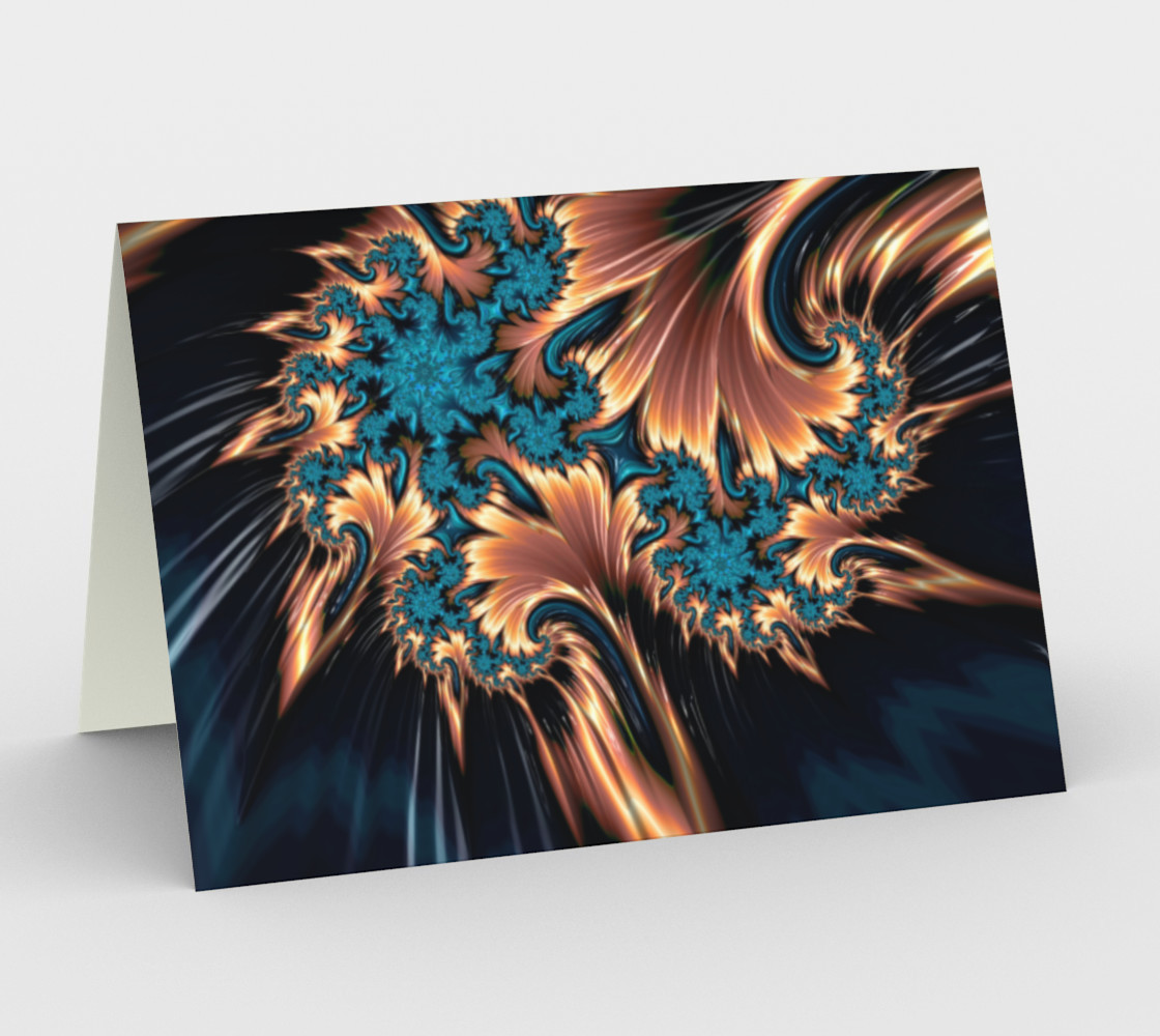 Fire of Ice Greeting Card preview #1