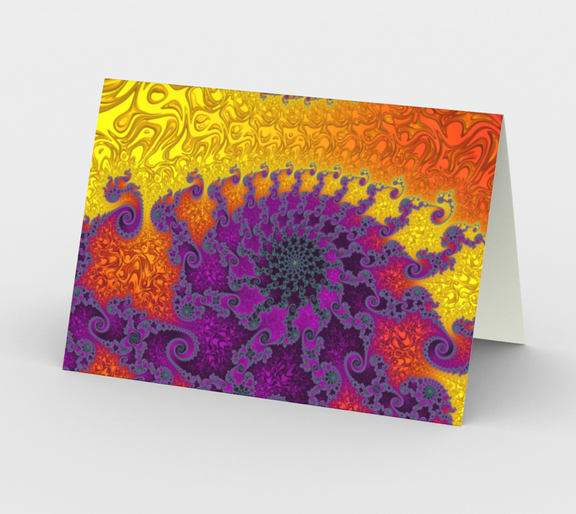 Royal Hippy Greeting Card preview #2