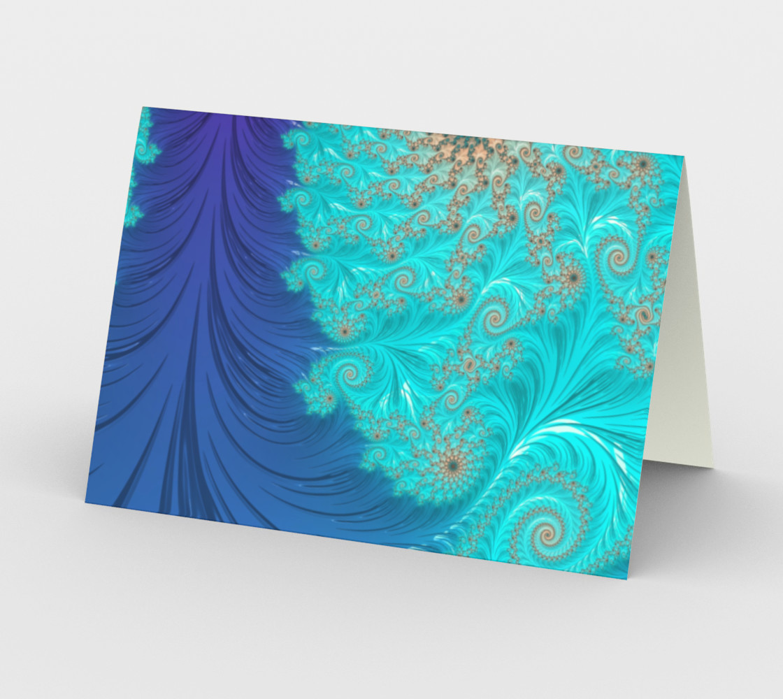Aperçu de Feather Pillar Greeting Card #2