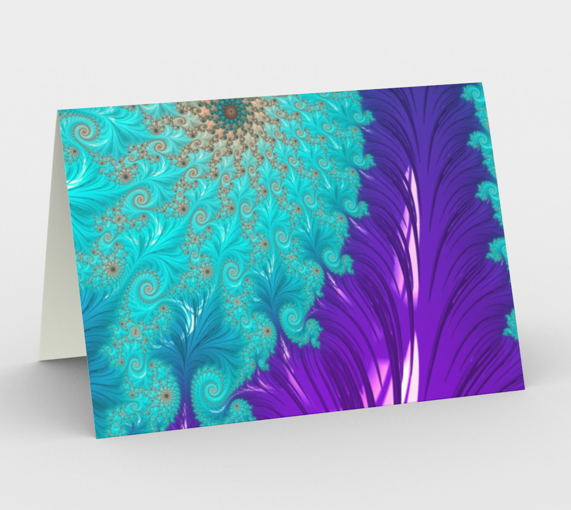 Aperçu de Feather Pillar Greeting Card #1