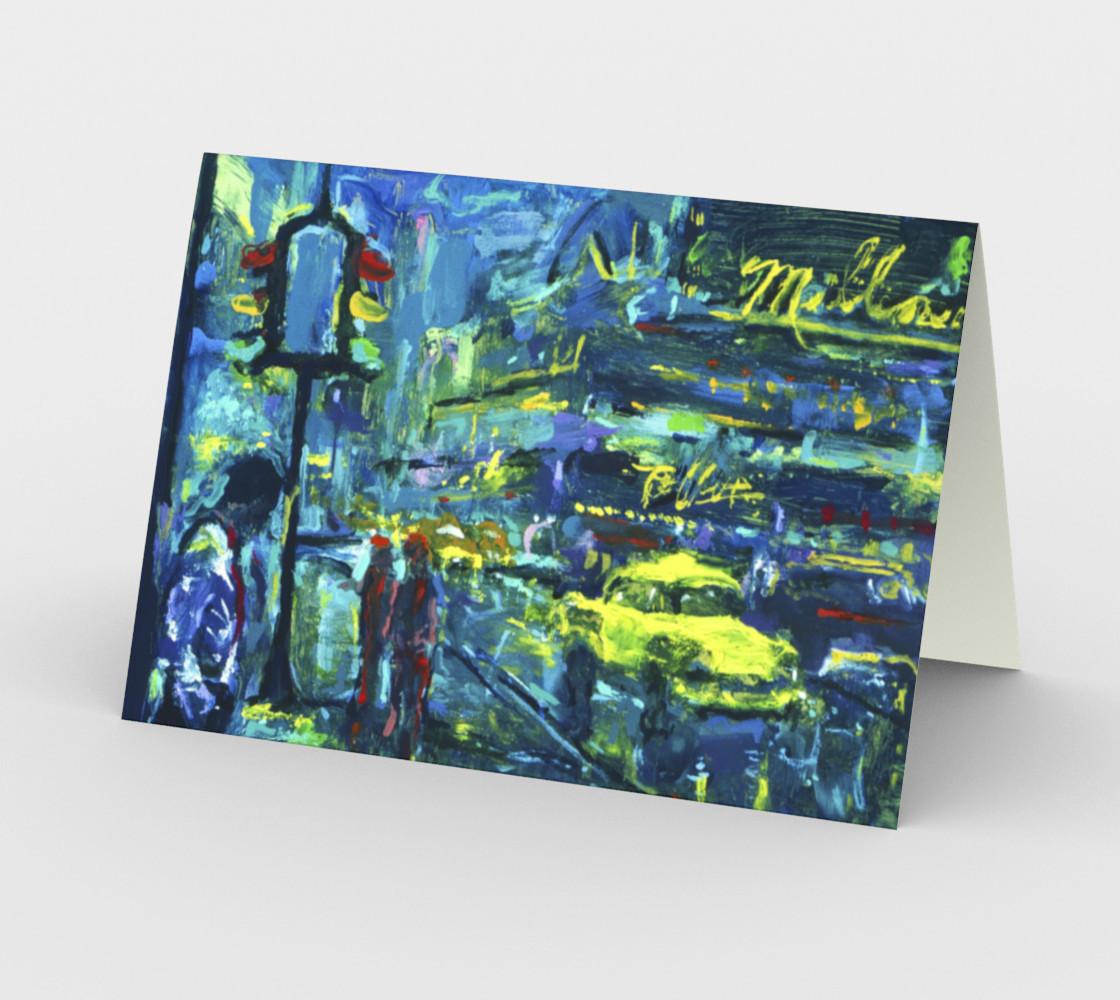 Aperçu de Lady Nighthawk Invitation Card  (blank set of 3 w/envelopes) #2