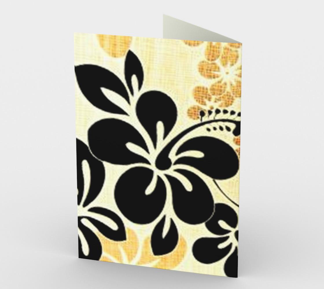 Black and Khaki Hawaiian Hibiscus preview #2