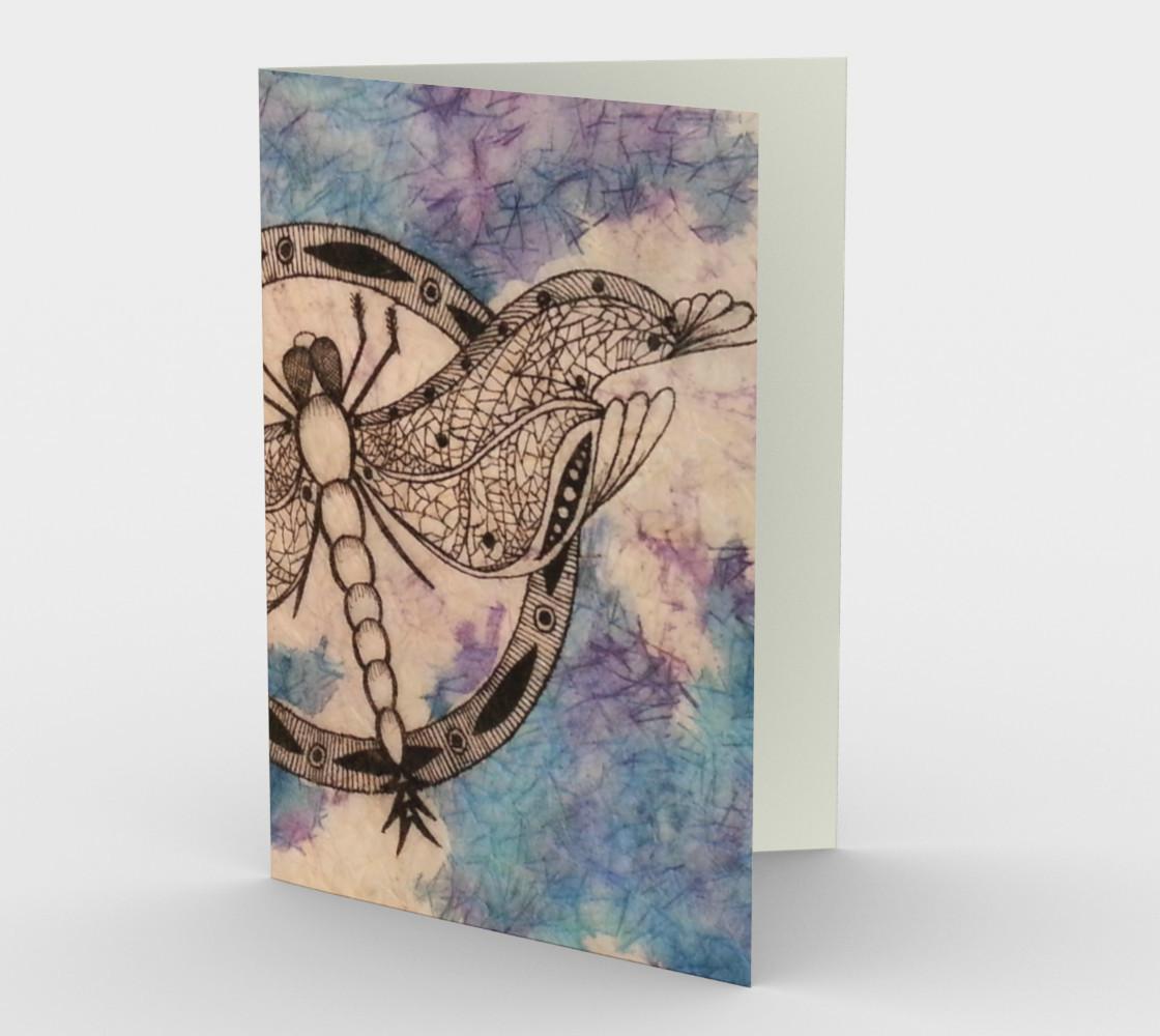 Candice Flies Home Watercolor Batik Card preview #1