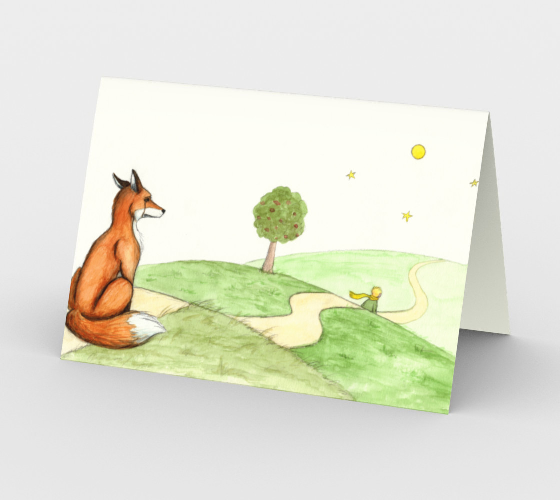 The little prince and the fox Stationery Card preview #2