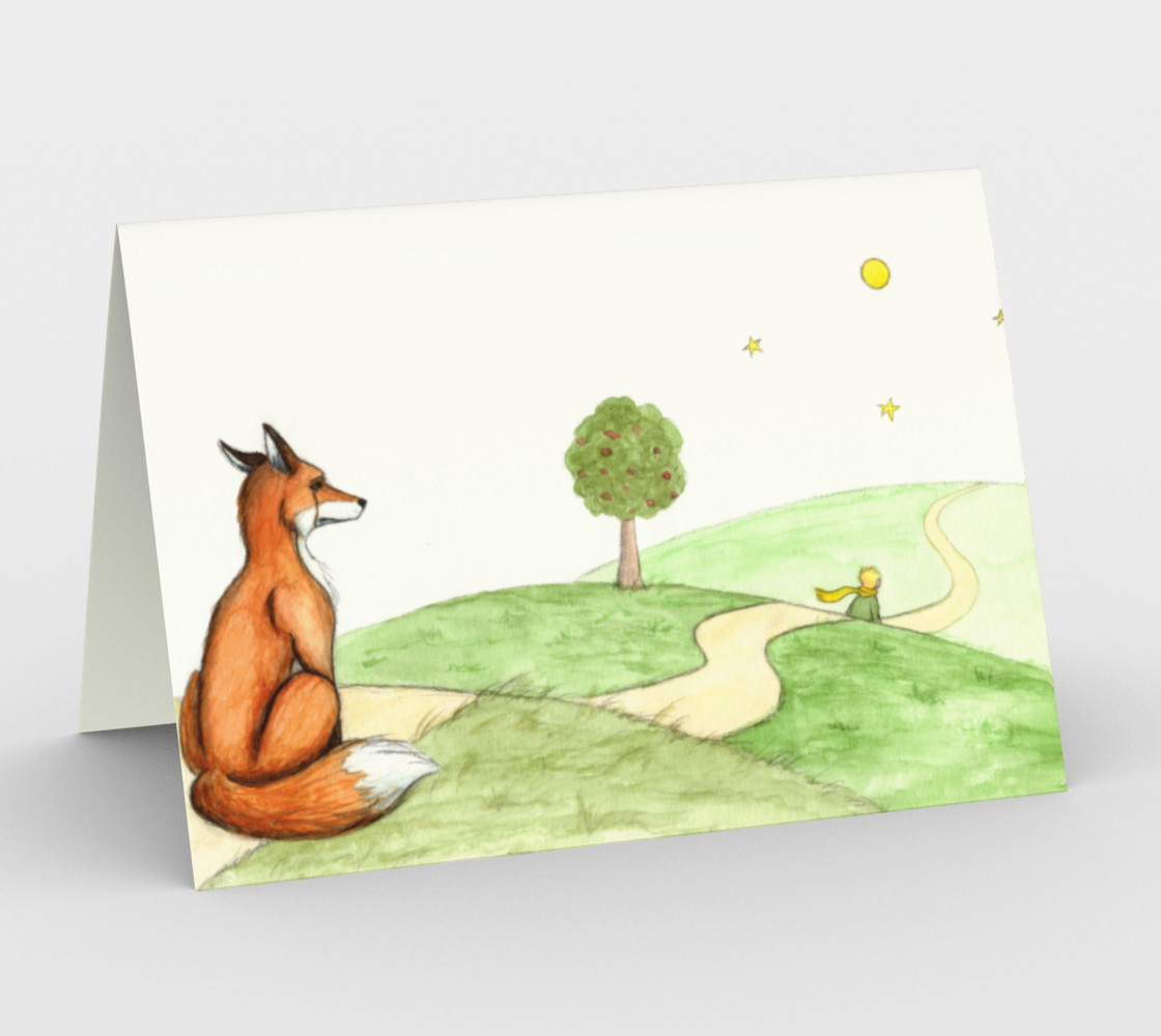 The little prince and the fox Stationery Card preview #1